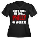 Philadelphia Baseball Women's Plus Size V-Neck Dar