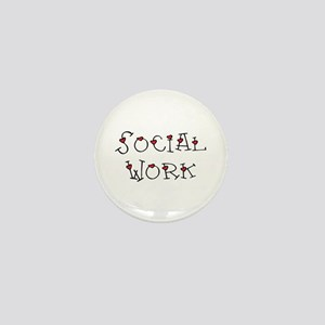 Social Work Hearts (Design 2) Mini Button