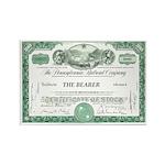 PRR 1959 Stock Certificate Rectangle Magnet