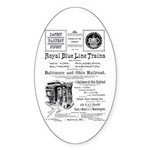 B&O Royal Blue LineTrains Oval Sticker