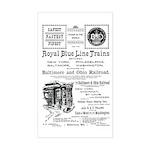 B&O Royal Blue LineTrains Rectangle Sticker