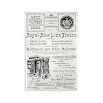 B&O Royal Blue LineTrains Rectangle Magnet (10