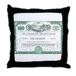 PRR 1959 Stock Certificate Throw Pillow