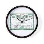 PRR 1959 Stock Certificate Wall Clock