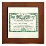 PRR 1959 Stock Certificate Framed Tile