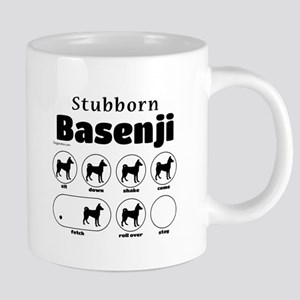 Stubborn Basenji 2 Stainless Steel Travel Mugs