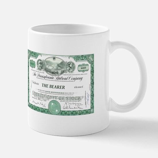 PRR 1959 Stock Certificate Mug