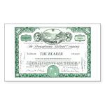 PRR 1959 Stock Certificate Rectangle Sticker