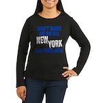 New York Baseball Women's Long Sleeve Dark T-Shirt