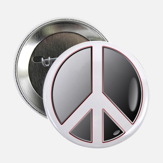"""Grey peace 2.25"""" Button (10 pack)"""