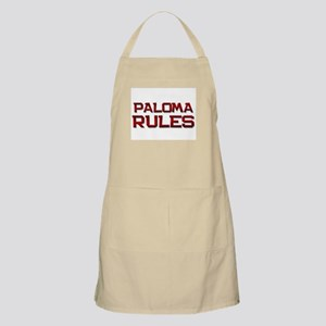 paloma rules BBQ Apron