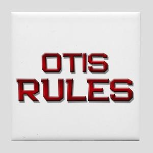 otis rules Tile Coaster