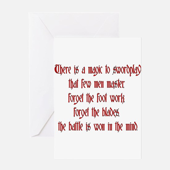 There is a Magic to swordplay Greeting Card