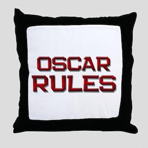oscar rules Throw Pillow