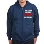 Buffalo Football Zip Hoodie (dark)