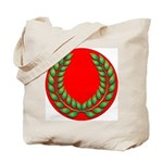 Green on red laurel Tote Bag
