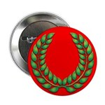 Green on red laurel Button