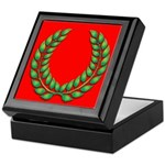 Green on red laurel Keepsake Box