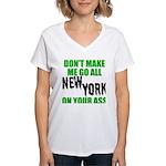 New York Football Women's V-Neck T-Shirt