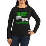 New York Football Women's Long Sleeve Dark T-Shirt
