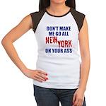 New York Football Women's Cap Sleeve T-Shirt