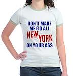 New York Football Jr. Ringer T-Shirt