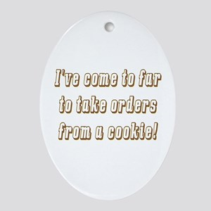 The cookie Oval Ornament