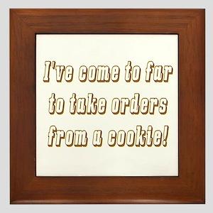 The cookie Framed Tile