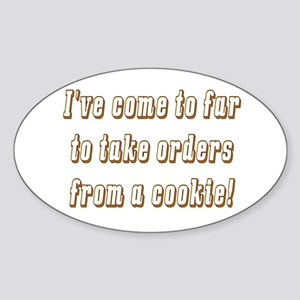 The cookie Oval Sticker