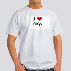 I LOVE AMIYA Ash Grey T-Shirt