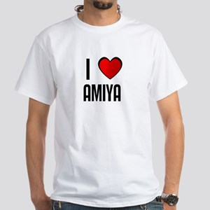 I LOVE AMIYA White T-Shirt