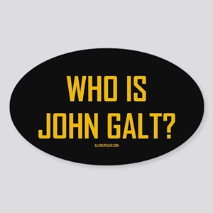 Who Is John Galt? Oval Sticker