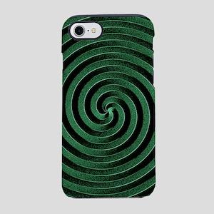 Green Spiral iPhone 7 Tough Case