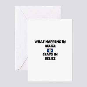What Happens In BELIZE Stays There Greeting Card