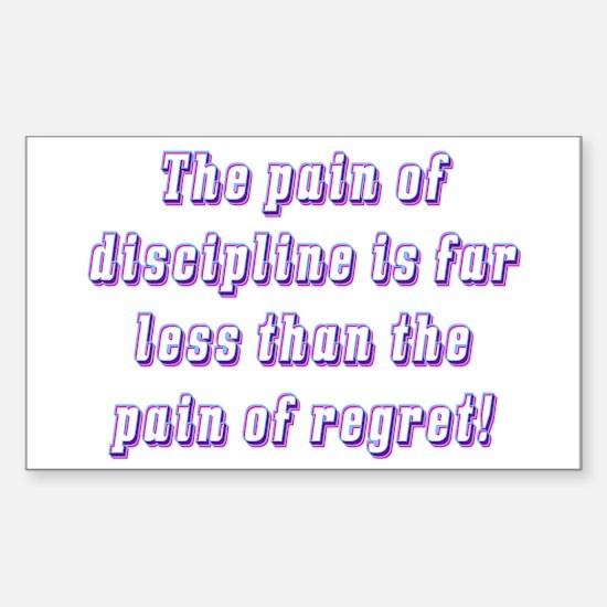 Discipline Rectangle Decal