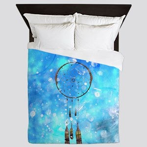 Wonderful dreamatcher on blue background Queen Duv