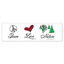 oddFrogg Peace Love Nature Bumper Sticker