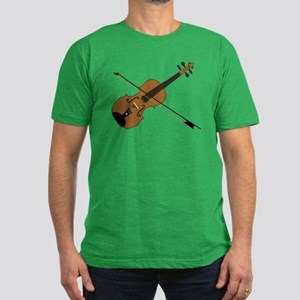 Fiddle or Violin? Men's Fitted T-Shirt (dark)