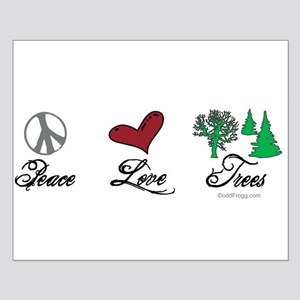 oddFrogg Peace Love Trees Poster