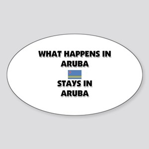 What Happens In ARUBA Stays There Oval Sticker