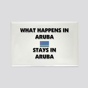 What Happens In ARUBA Stays There Rectangle Magnet