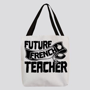 French Teacher Polyester Tote Bag