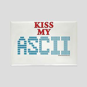 Kiss My Ascii Rectangle Magnet