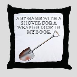 Shovel Weapon Throw Pillow