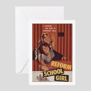 Reform School Girls Greeting Card