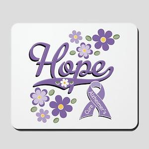 Hope Alzheimer's Awareness Ribbon Mousepad