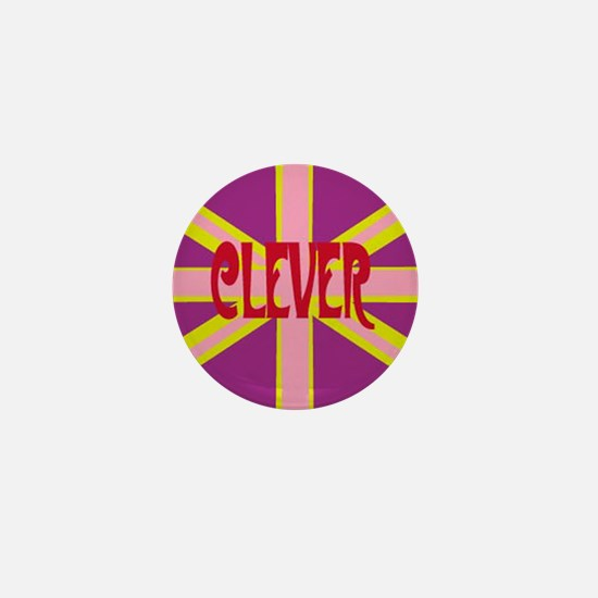 clever britpop Mini Button