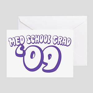 Med School Grad 09 (Purple Bubble) Greeting Card