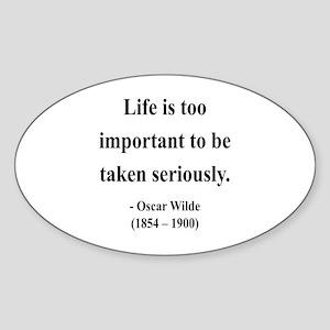 Oscar Wilde 17 Oval Sticker
