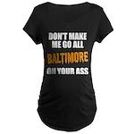Baltimore Baseball Maternity Dark T-Shirt